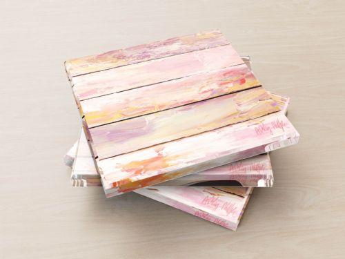 Vintage Panels Pink - Glass Coasters
